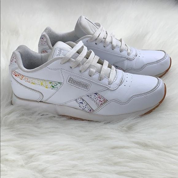 d309031be3b85 Reebok Harman Women's Running Shoe White & Rainbow
